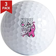 Golf Balls (Set of 3) Cancer Awareness Hope for a Cure