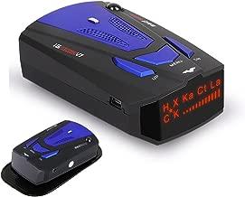 WLZLINE Radar Detector V7, Voice Prompt Speed, City/Highway Mode Radar Detector for Cars (W1) (W) (W) (Blue)