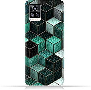 AMC Design TPU Mobile Case Cover for vivo V20 2021 with Cubes Pattern