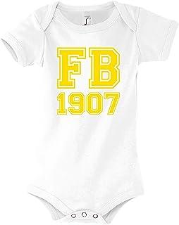 TRVPPY Baby Kurzarm Body Strampler Modell Fenerbahce, Gr. 3-6 Monate, Weiß