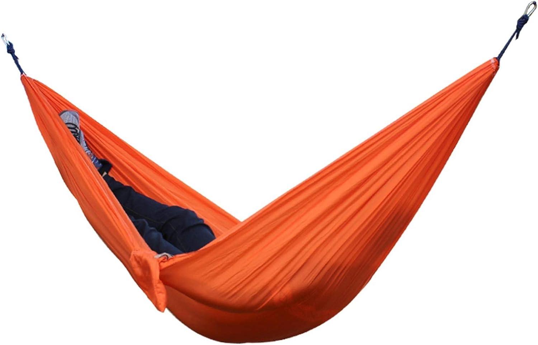LSXLSD Financial sales sale Portable Nylon Outstanding Cloth Hammock Double Camping Multifunction