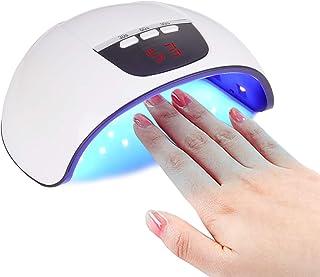 Yizhet Lámpara LED Uñas 54W Lámpara Secadora de Uñas LED UV para Esmalte de Uñas de Gel con 18 Lámparas de Secado Rápido y Pantalla LCD, Sensor Automático, Temporizador 30s/60s/99s