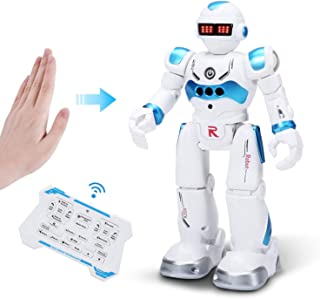 DEERC RC Robot Toy for Kids,Smart Gesture Sensing Remote Control Robot,Great Toys Gift for 3-8 Year Old Boys Girls