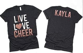 Cheerleading Gifts- Live Love Cheer Shirt