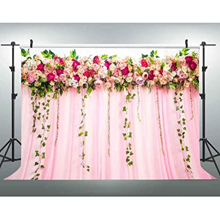 HUAYI 7x5ft Wedding Floral Bridal Shower Rose Flowers Wall Decoration Portrait Photo Booth Birthday Party Baby Shower Decor Banner Photography Backdrop Background lw-1123