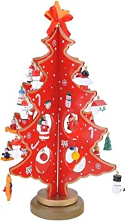 Árbol de Navidad de madera, en miniatura, decoración para mesa de escritorio, de la marca Jingxu