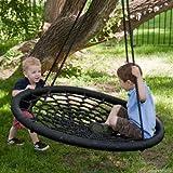 100 cm Diameter, 2 Person Giant Kids Outdoor Nest Disc Swing Tree Spider Net Mesh Play Fun Toy