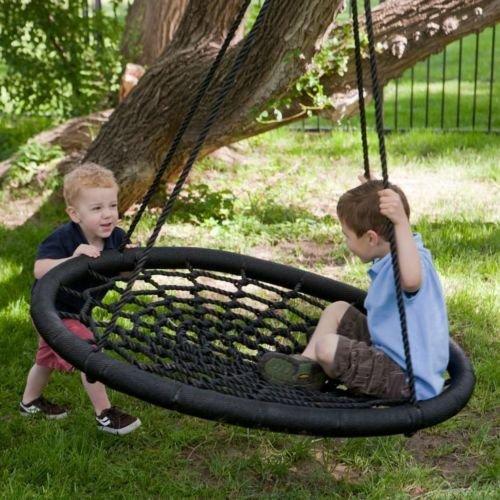 100 cm Diameter, 2 Person Giant Kids Outdoor Nest Disc Swing Tree Spider...