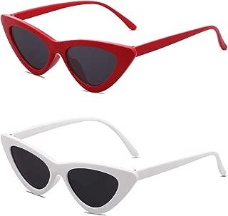 Retro Vintage Narrow Cat Eye Sunglasses for women Clout Goggles Plactic Frame Cardi B