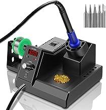ST2090D Soldeerstation, digitale soldeerboutset met 80 ℃ -480 ℃, snelle opwarmtemperatuur, ESD veilige elektronica soldeer...