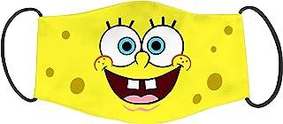 Vista Spongebob Character Printed Mask for Kids/Cotton Reusable Washable Mask Size 18x10cms