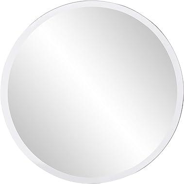 Howard Elliott 36003 Round Frameless Mirror, 12-Inch