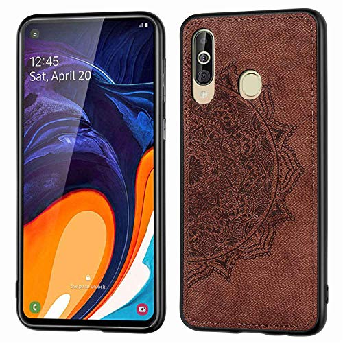 Grandcase Galaxy A60 Case,Ultra thin PU Leather Soft Flexible TPU Bumper Anti-Slip Scratch Resistant Protective Cover for Samsung Galaxy A60/M40 6.3' -Brown