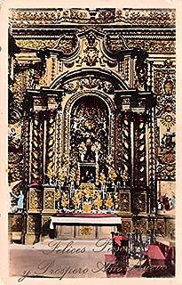 Felices Pascuas y Prospero Ano Nuevo, Temple de la Compania de Jesus Quito Ecuador, Republica del Ecuador Postcard