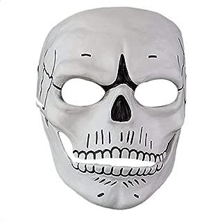 XXF James Bond Skull Skeleton 007 Full Face Mask Cosplay Spectre 007 Film Novelty Creepy Halloween Party Costume. White