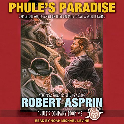 Phule's Paradise     Phule's Company Series, Book 2              By:                                                                                                                                 Robert Asprin                               Narrated by:                                                                                                                                 Noah Michael Levine                      Length: 7 hrs and 29 mins     290 ratings     Overall 4.6