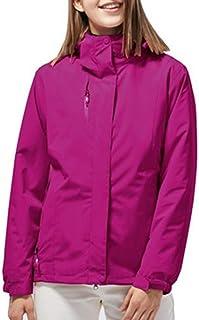 LOSRLY Chaqueta de invierno impermeable 3 en 1 con capucha para mujer con forro polar cálido para snowboard, montaña.