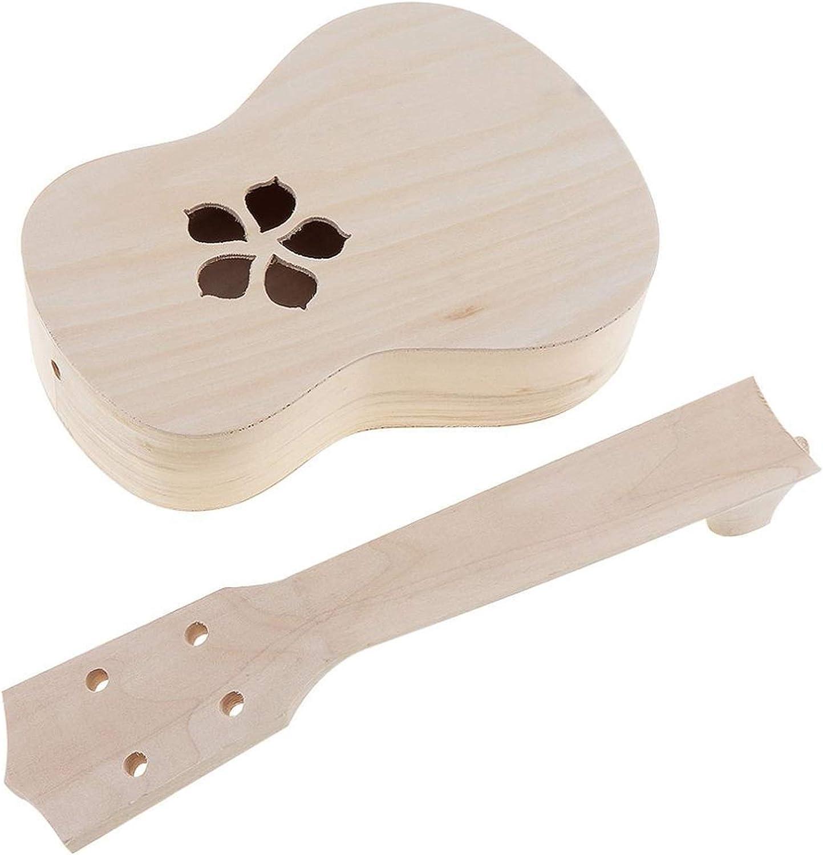 TJLSXXZ 21 Popular products Kansas City Mall Inch Ukulele DIY Kit Guitar Soprano Hawaiian B Wooden
