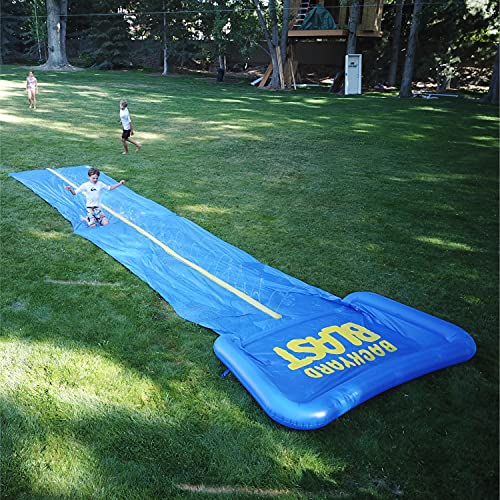 BACKYARD BLAST - 30' Waterslide with Splash Zone - Easy to Setup - Extra Thick to Prevent Rips & Tears