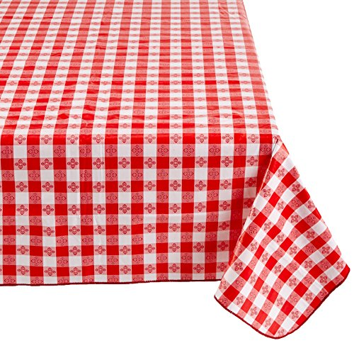 Checkered Red and White Table Cloth
