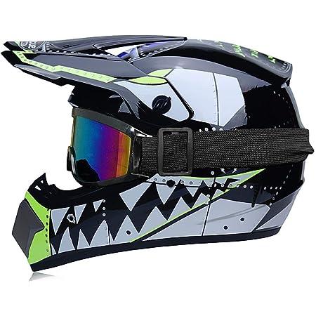 Motorrad Helm Für Kinder Handschuhe Helm Zertifiziert Dot Motocross Cross Off Road Bmx Cycle Schwarz Matt Atv Kinder Quad Bike Mtb Go Karting Helm Sport Freizeit