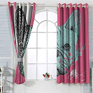 Best french bulldog window curtains Reviews