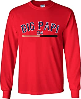 The Silo LONG SLEEVE RED Boston Ortiz Big Papi T-Shirt