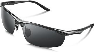 PAERDE サングラス メンズ 偏光レンズ 運転 軽量 UVカット 紫外線カット 釣り スポーツ テニス