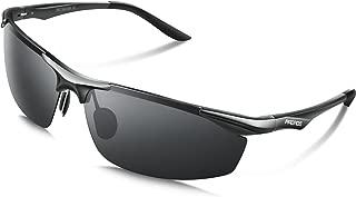 PAERDE サングラス メンズ 偏光レンズ 運転 軽量 uvカット 紫外線カット 軽量 運転 釣り スポーツ テニス PA01
