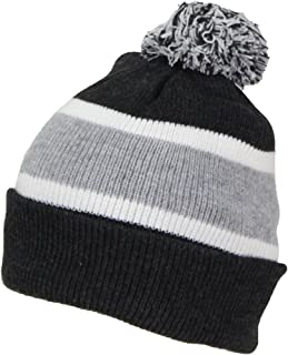 Best Winter Hats Quality Cuffed Cap with Large Pom Pom (One Size)(Fits Large Heads)