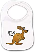 Kangaroo or Little Roo Funny Baby Bib or Burp Cloth With Sayings for Australia Down Under Kid