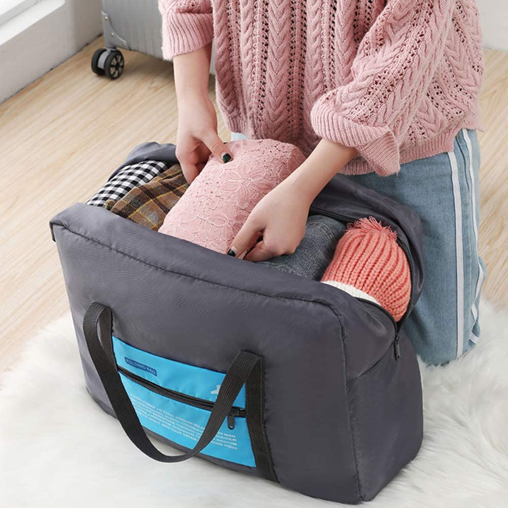 Large Capacity Water Resistant Nylon Luggage Bag Vacation Gym Lightweight Travel Luggage Bag for Sports Foldable Travel Duffel Bag