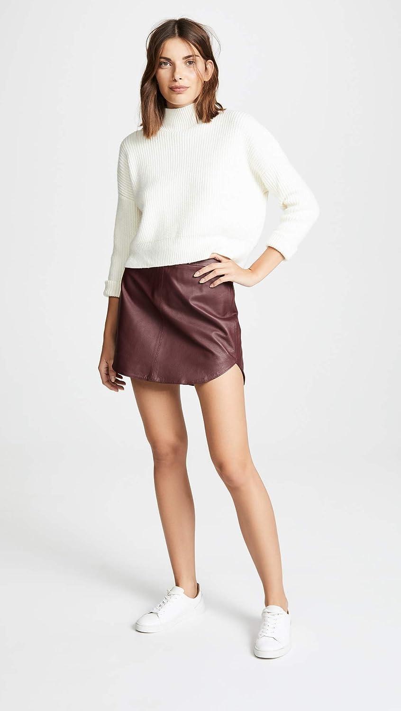BB Dakota by Steve Madden Women's Conrad Leather Mini Skirt