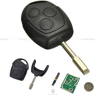 Llave Carcasa concha hoja mando a distancia 3 teclas para coche FORD FIESTA FOCUS MONDEO KA
