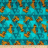 Disney Flannel Lion King Friends Teal Green Quilt Fabric By The Yard