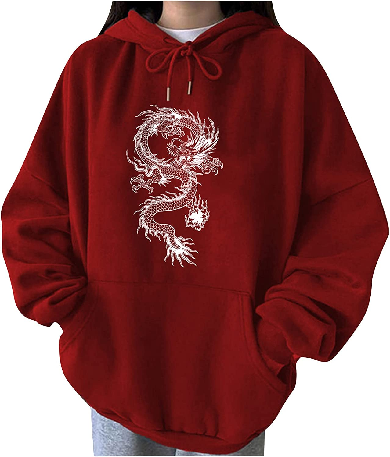 Bravetoshop Oversized Large-scale sale Hoodies for Women Drawst Inexpensive Y2k Print Graphic