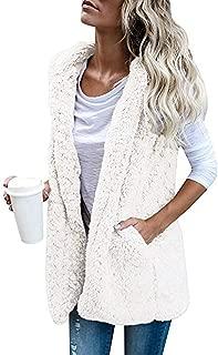 Dreamparis Women's Open Front Coats Cardigan Sherpa Jacket Reversible Fluffy Outwear