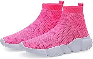 Hetios Girls Sneakers Running Shoes High-Heeled Socks Shoes Boys Athletic Sneakers Kids Sock Shoes (Toddler/Little Kid/Big...