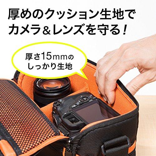 サンワダイレクトカメラバッグ一眼レフショルダー5L軽量315gベルト取付け対応200-DGBG008BK