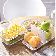HUICHEN Plastic Double Sealed Drain Storage Box Refrigerator Fruit Vegetable Drain Storage Containers with Lid Kitchen Fri...