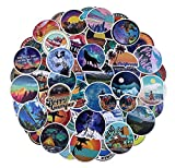 100 Pcs Outdoors Stickers for Water Bottles Laptop Car Hydroflasks Phone Guitar Skateboard Computer Hiking Camping Travel Wilderness Nature Waterproof Vinyl Stickers Decals for Teens Boys Girls