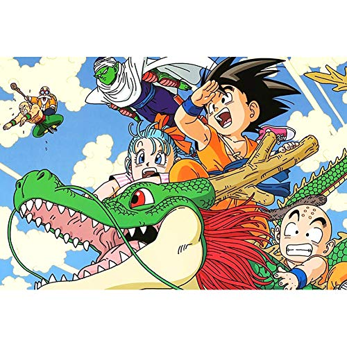 Puzzels, Thema's Puzzle Sets for Familie, Intelligence Learning Games, 300~1000 Stuks Anime Dragon Ball Sun Wukong Cartoon Puzzles 508 (Color : A, Size : 300pc)