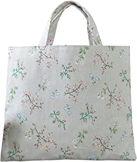 5620b4f37682 Caixia Women s Charming Floral Branch Canvas Tote Shopping Bag Beige