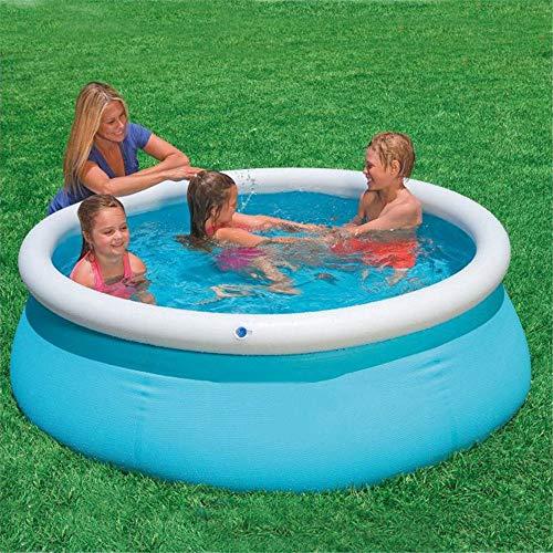 183 * 51Cm Family Kleuterbad Opblaasbaar Zwembad Zwembad Boven De Grond Kid Volwassen Kinderen Blue Garden Buiten Spel Van De Pool