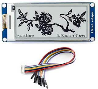 2.9inch e-Paper Display Module, 296x128 Resolution 3.3V/5V Two-Color epaper Display E-Ink Screen Module SPI Interface Comp...