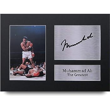 HWC Trading Muhammad Ali A4 Sin Marco Regalo De Visualización De Fotos De Impresión De Imagen Impresa Autógrafo Firmado por Los Fanáticos del Boxeo