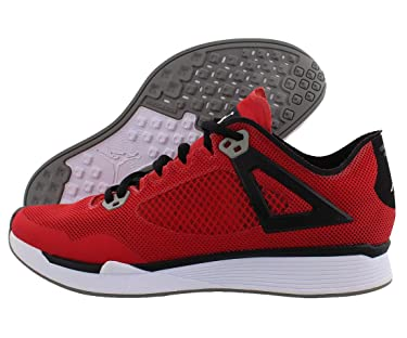 Jordan Mens 89 Racer Leather Low Top, Fire Red/Black-White, Size 10.5