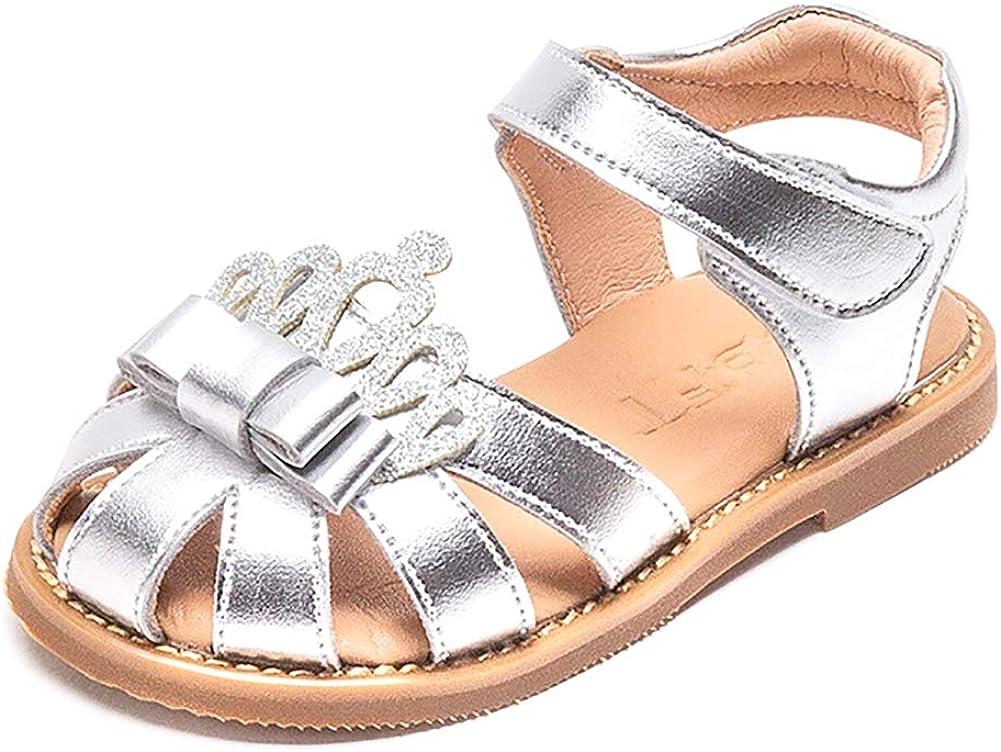 Aellons Girls Crown Soft Closed Summer Toe Flat Princess Finally resale start Ranking TOP3 Sandals