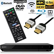 Sony UBP-X700 Streaming 4K Ultra HD 3D Hi-Res Audio Wi-Fi and Bluetooth Built-in Blu-ray Player with A 4K HDMI Cable and Remote Control- Black