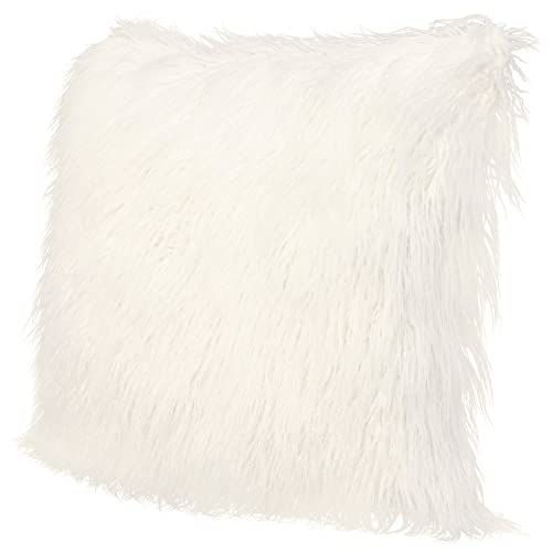 ICOSY Fluffy Pillow Case Mongolian Faux Fur Pillow Cover Super Soft Plush  Throw Pillows Fluffy Throw 6bc3299765